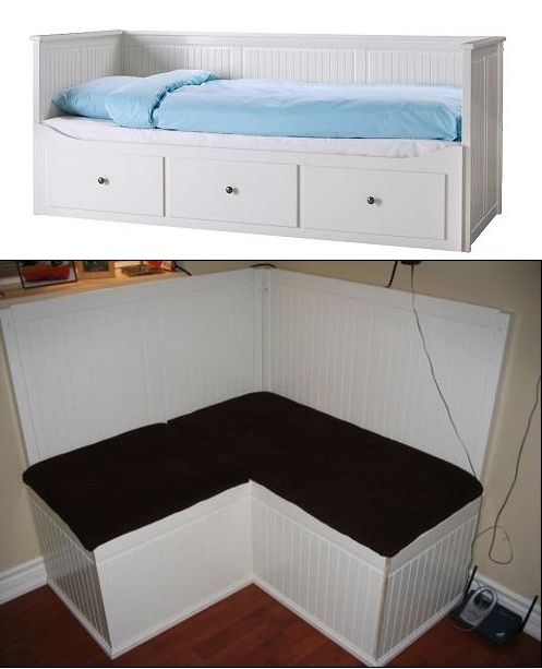 Ikea hack hemnes day bed turned into a banquette ikea for Ikea hemnes hack