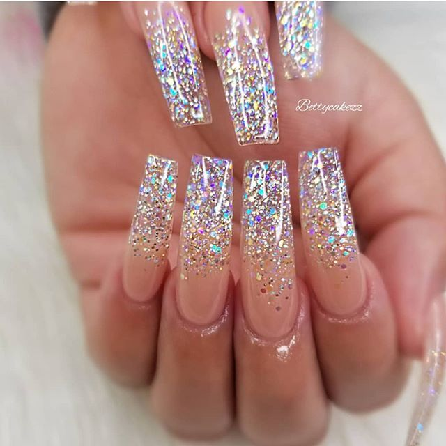 49 Best Glitter Nail Art Ideas For Glam Looks Nail Designs Glitter Glitter Nails Acrylic Sparkly Acrylic Nails