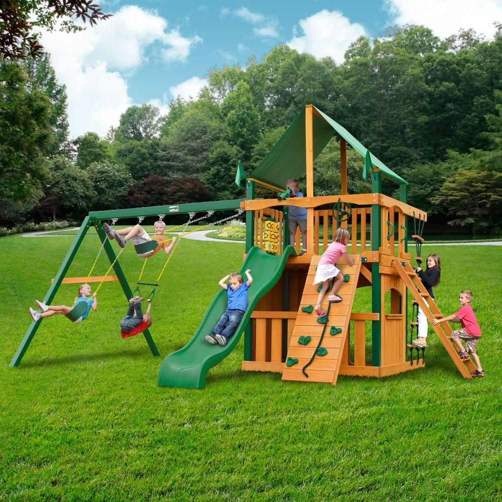 Gorilla Playsets Chateau Clubhouse With Timber Shield And Deluxe
