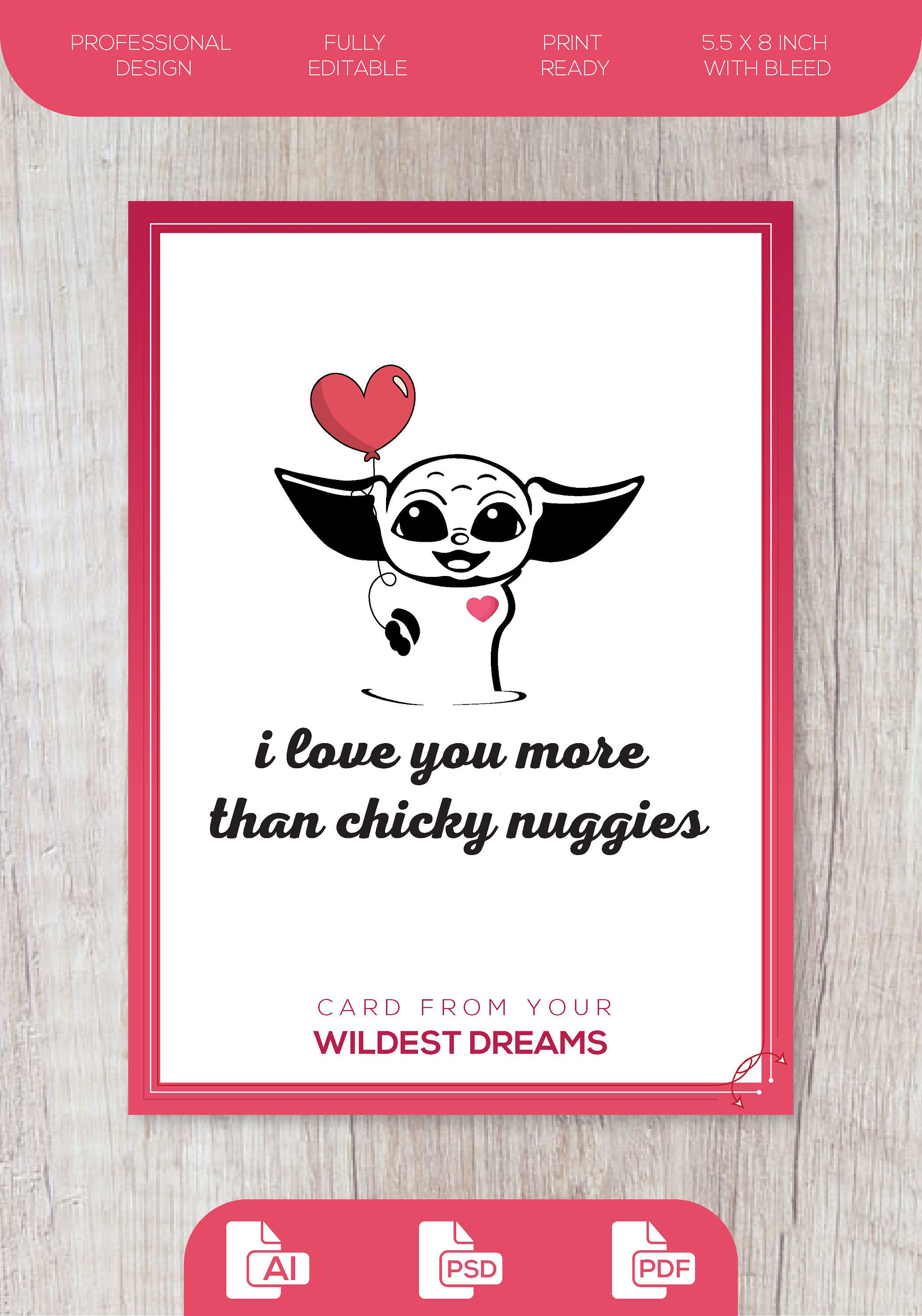 Funny valentines day card editable love card
