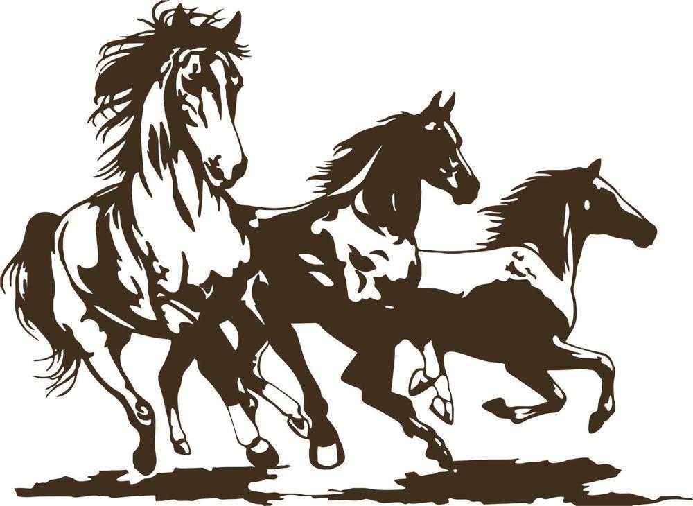 Horse Rodeo Western Horses Stallion Car Truck Window Laptop Vinyl Decal Sticker