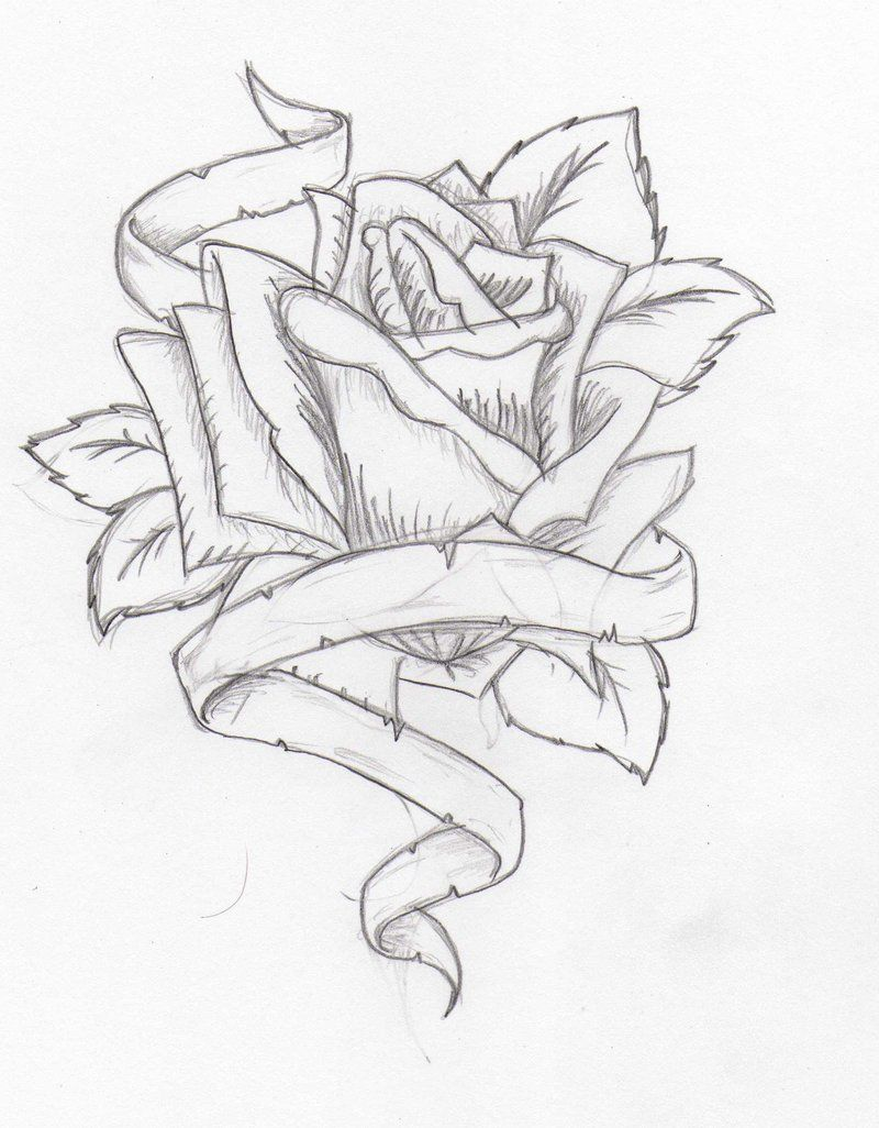 Double Rose Tattoo Stencil