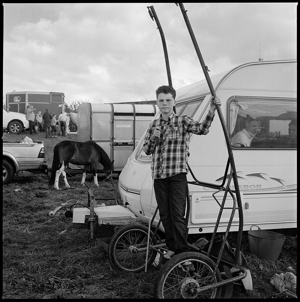 Boy on a sulky, Irish Traveller, Galway, Ireland 2016 ...
