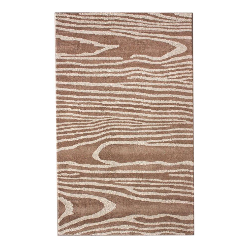 Wood Grain Print Rug: