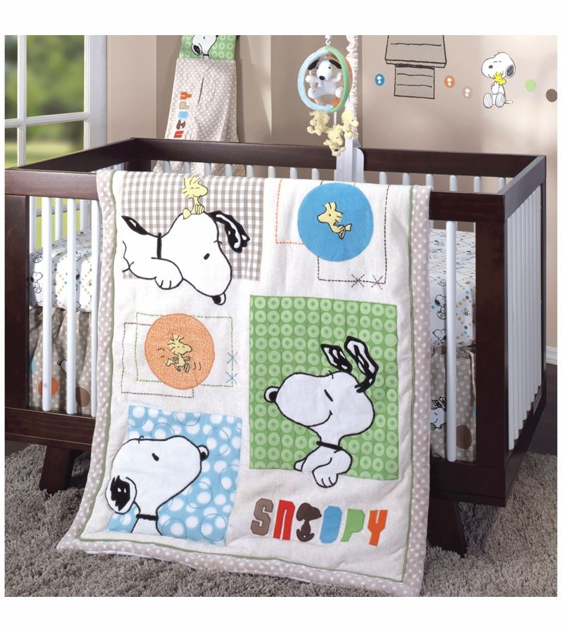 Discontinued Lambs Ivy Bff Snoopy 5 Piece Crib Bedding Set