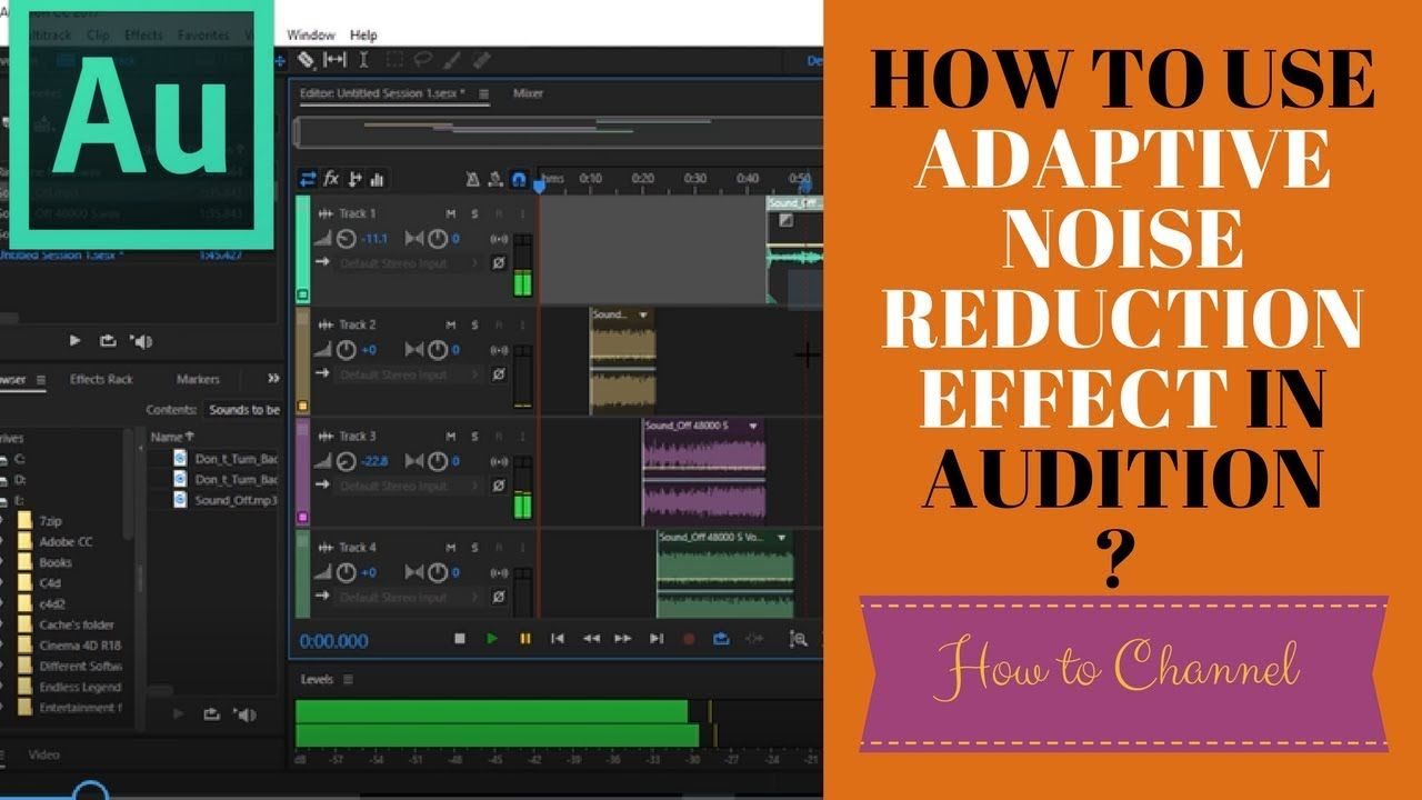 Adobe audition 52 how to use adaptive noise reduction