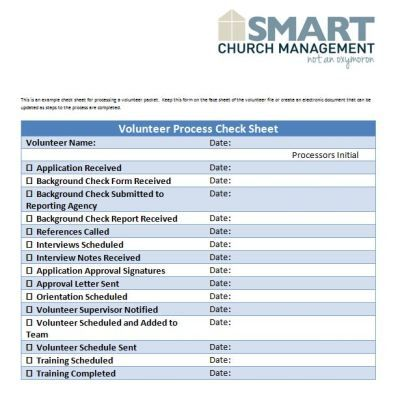 Check sheet to manage volunteer application process Volunteers - board meeting agenda template