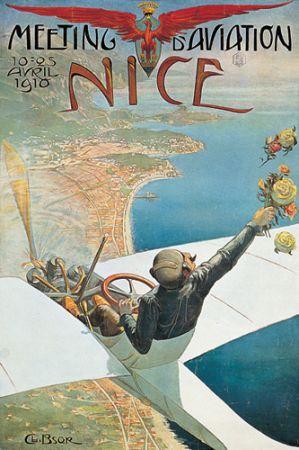 Meeting d'aviation,  vintage poster 70020  www.vintage-poster-market.com