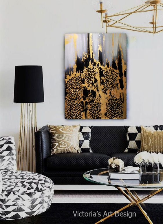 47++ Black and gold living room decor info