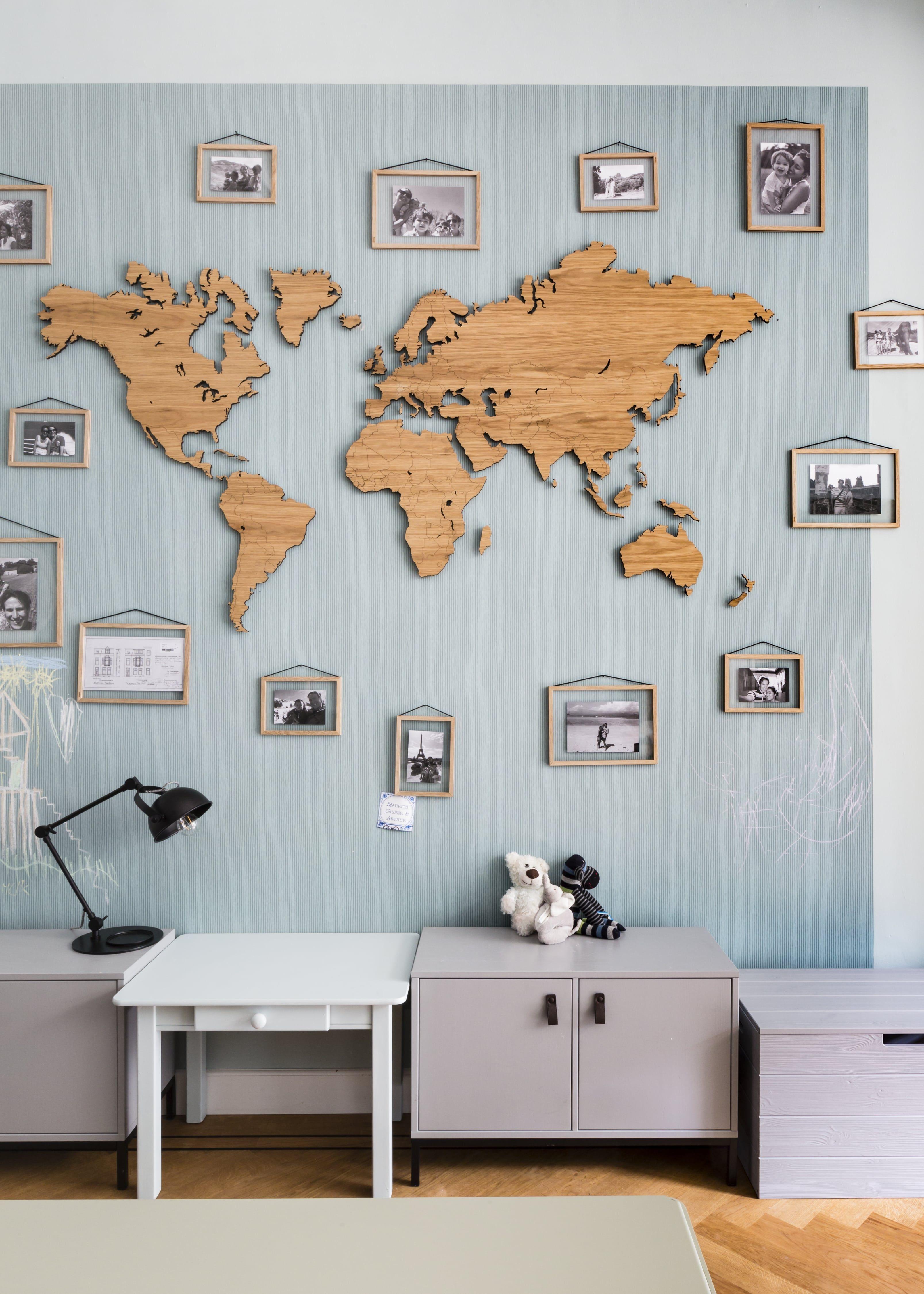 Decoratie Wereldkaart