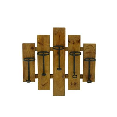5 Bottle Wall Mount Wine Rack Wayfair Wine Rack Bottle Wall