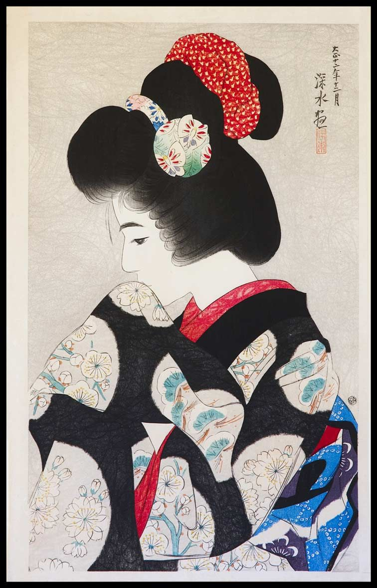 Pinturas Geisha 伊東深水 Itō Shinsui Japanese 1898 1972 Retrato Pinterest