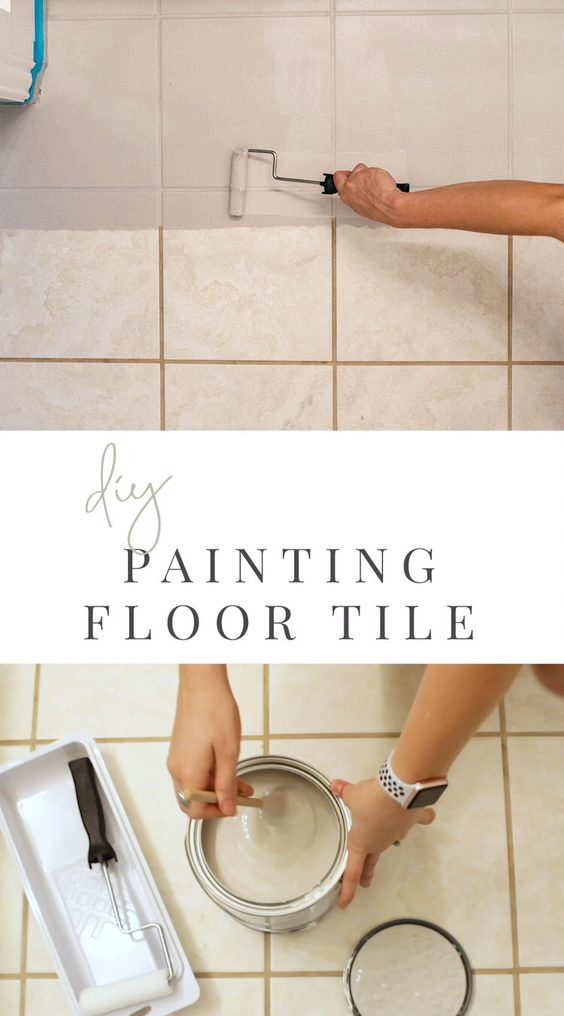 Photo of Painted Tile DIY – Bathroom Transformation