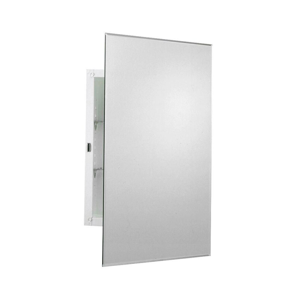 Zenith 16 In W X 26 In H Frameless Recessed Or Surface Mount Medicine Cabinet Mm1027 The Home Depot Recessed Medicine Cabinet Surface Mount Medicine Cabinet Bathroom Medicine Cabinet