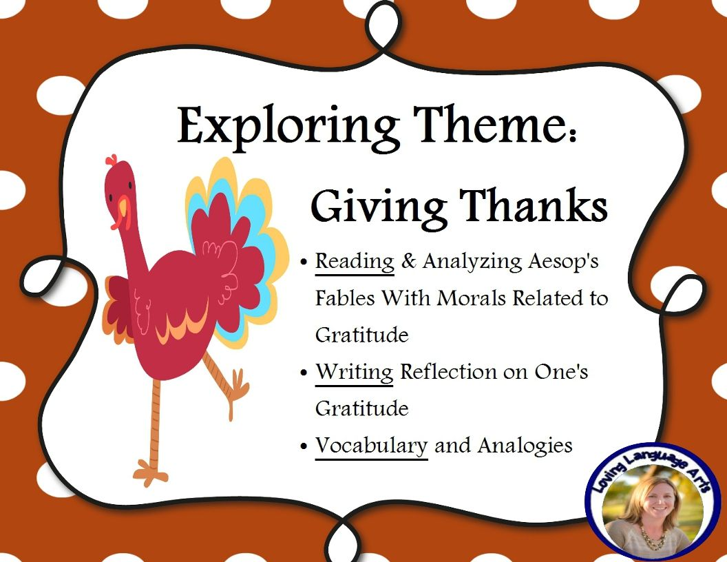 Thanksgiving Theme Of Gratitude Reading Aesop S Fables