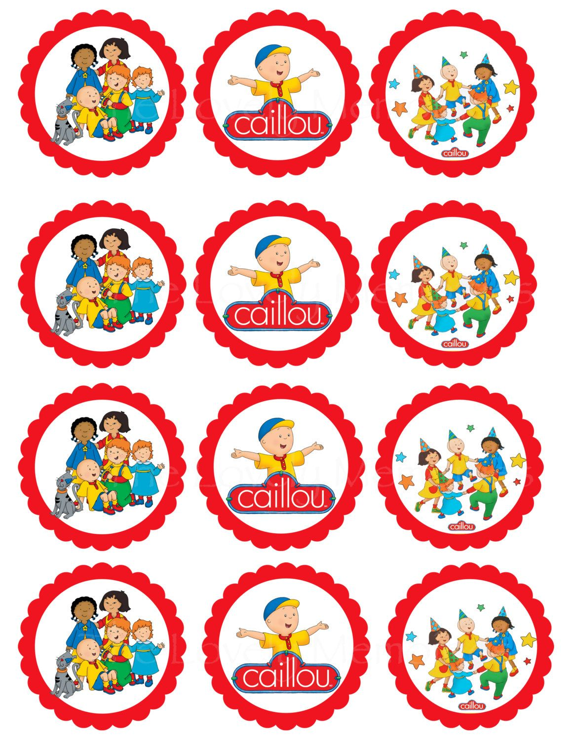 Pin By Crafty Annabelle On Caillou Printables