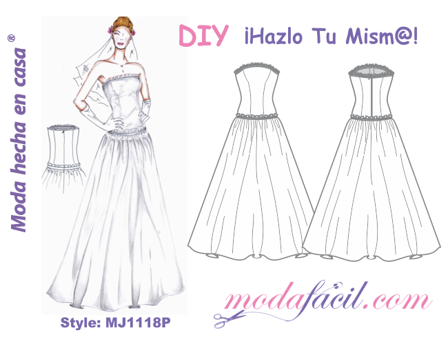 Download free patterns Wedding Dress available in 10 sizes to put ...