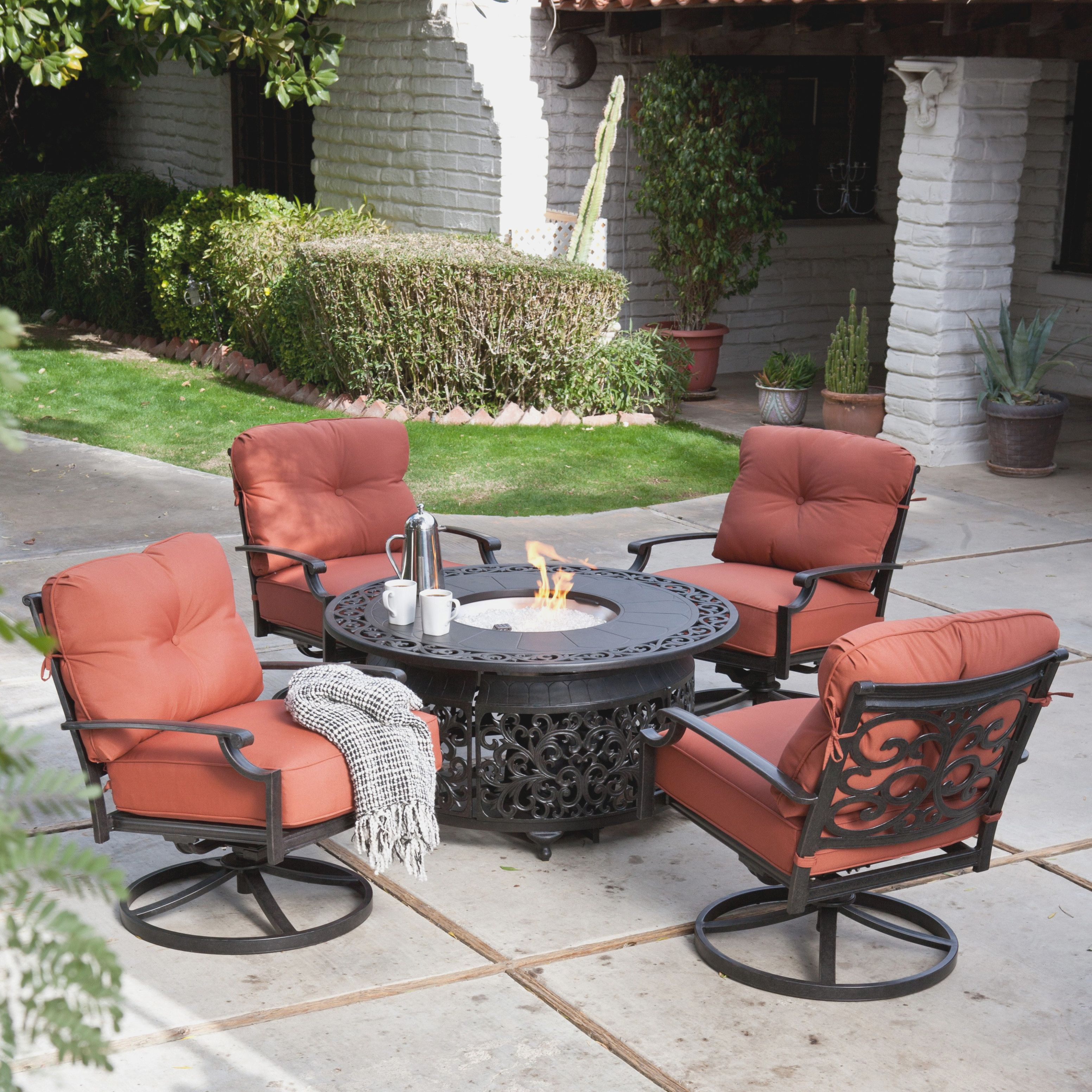 Costco Patio Furniture With Fire Pit Fire Pit Patio Set Fire