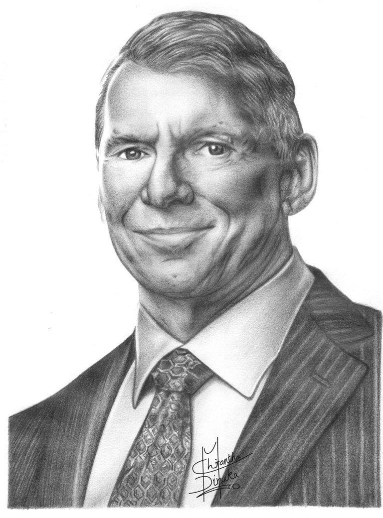 Vince mcmahon pencil drawing by chirantha