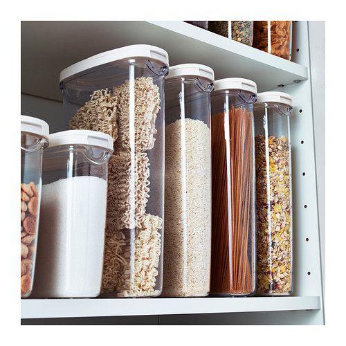 365 Dry Food Jar With Lid Clear White 2 Qt Ikea Kitchen Storage Ikea Food Storage Ikea 365