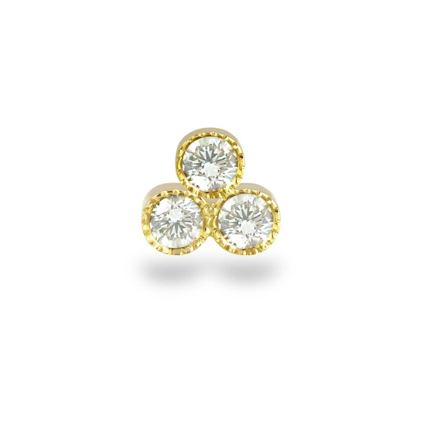 Lena Cohen Fine Jewellery - 18k Yellow Gold Milgrain Trio Diamond Cartilage Stud -  Lena Cohen Fine Jewellery – 18k Yellow Gold Milgrain Trio Diamond Cartilage Stud  - #18K #Cartilage #classyEarPiercings #Cohen #Diamond #EarPiercingsaesthetic #EarPiercingsformigraines #EarPiercingsnames #Fine #Gold #jewellery #kyliejennerEarPiercings #Lena #Milgrain #Stud #Trio #uniqueEarPiercings #Yellow