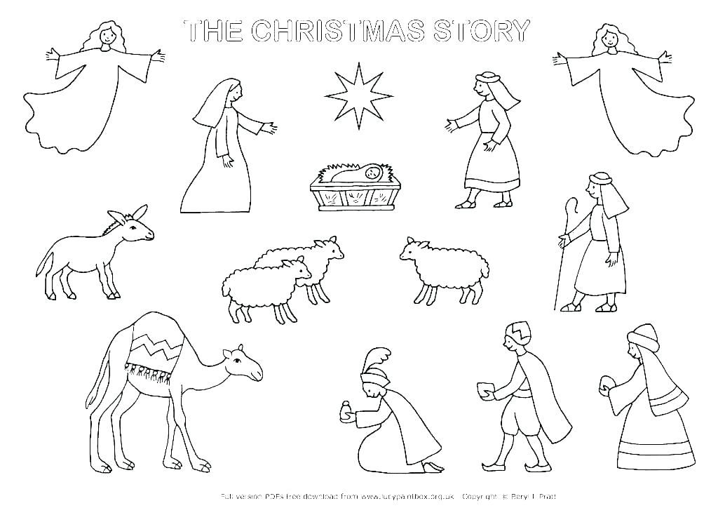 Nativity Coloring Pages Free Le Nativity Coloring Pages Scene Page