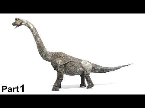 Photo of ORIGAMI BRACHIOSAURUS TUTORIAL (Shuki Kato) TEIL 1 Origami Brachiosaurus Dinosaurier DINOSAUR DINOSAURIO