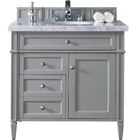 36 Inchbathroom Vanities With Tilt Out Top Drawer Double Deep Bottom Drawer And Shelf Inside Cabin Grey Bathroom Vanity Single Bathroom Vanity Bathroom Vanity