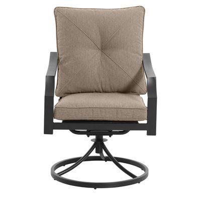 Garden Treasures Vinehaven Swivel Patio Dining Chair (Set Of 2)