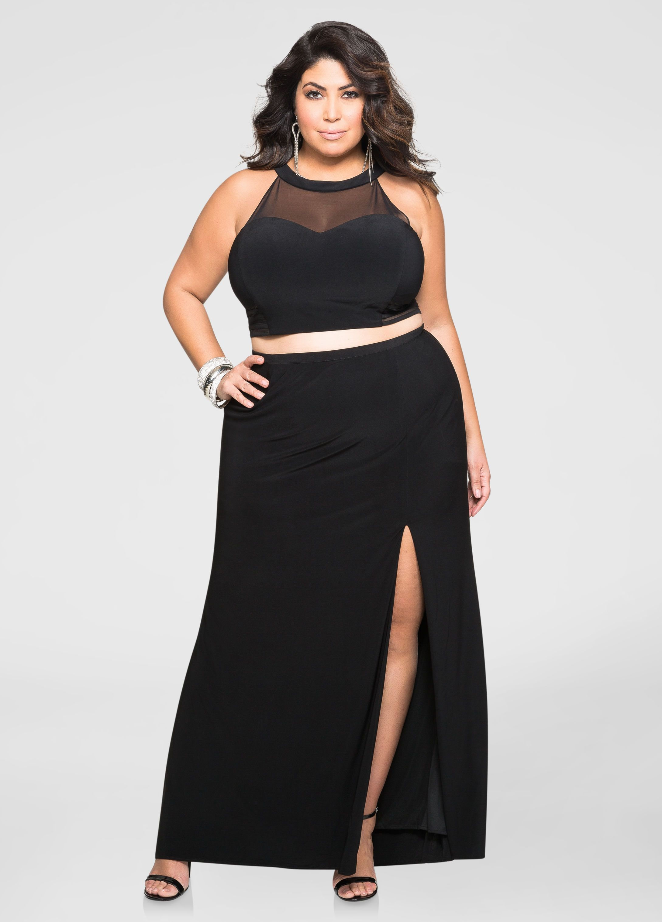 2-Piece Crop Top Gown Set | Jessica Milagros | Plus size ...