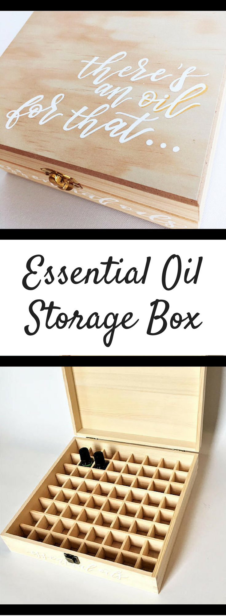 Essential Oil Box   Wooden Essential Oil Box   Customized Gift   Essential Oil Storage   Hand Painted   Natural Wood Box #ad #essentialoils #essentialoil #oils #youngliving #younglivingessentialoils #storage #wooden #gifts #giftidea #giftideas #giftsforher #giftsformom