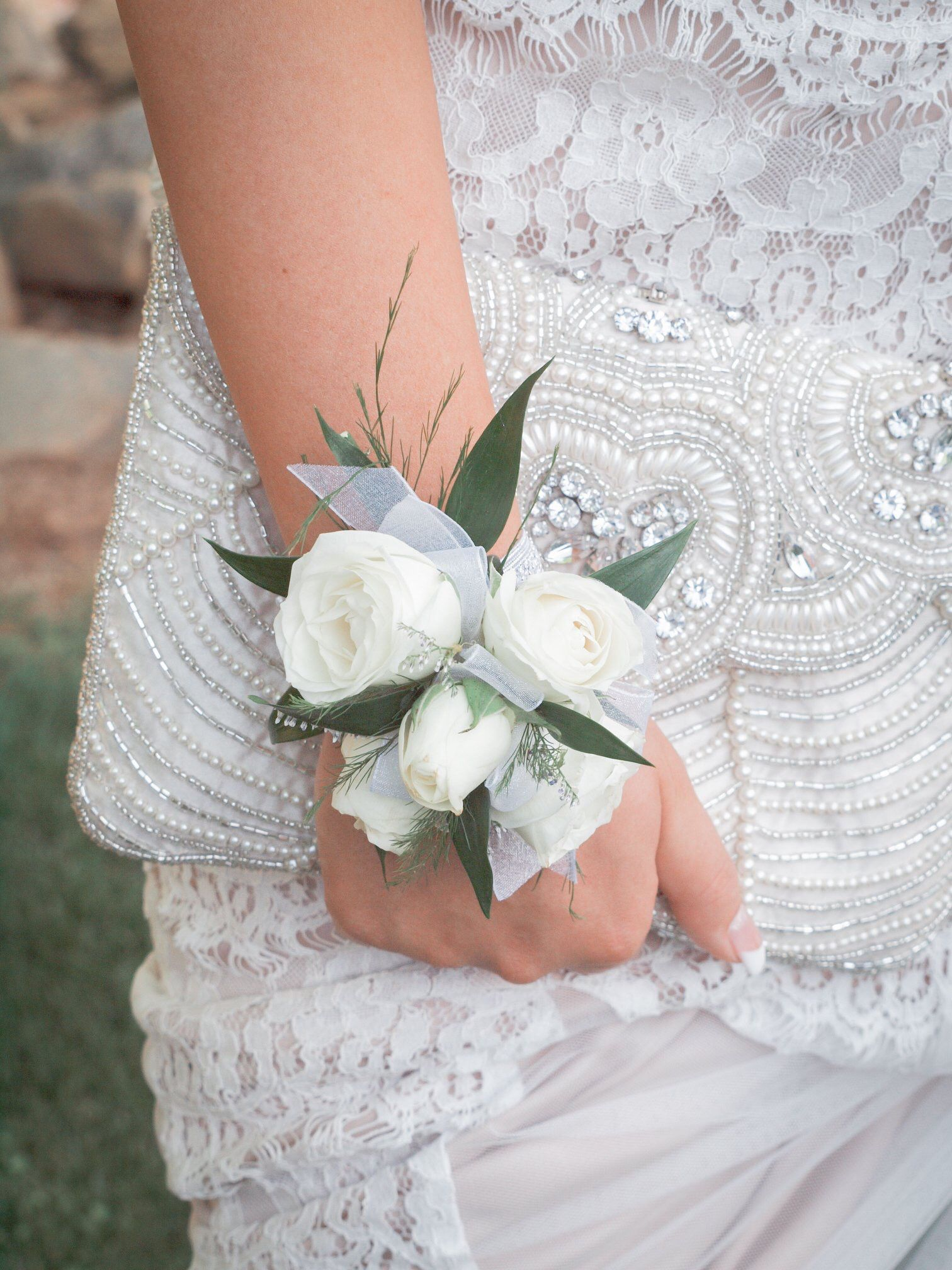 White Rose Corsage  #corsages