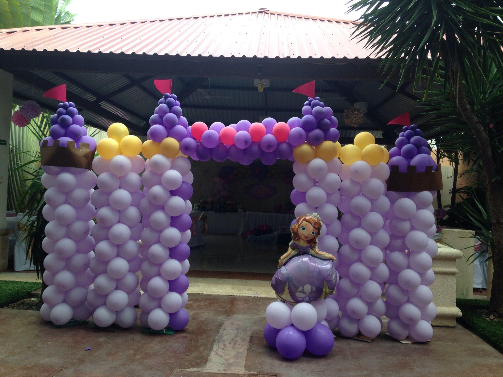 Princesita sof a castillo de globos decoraci n para - Decoracion de globos ...