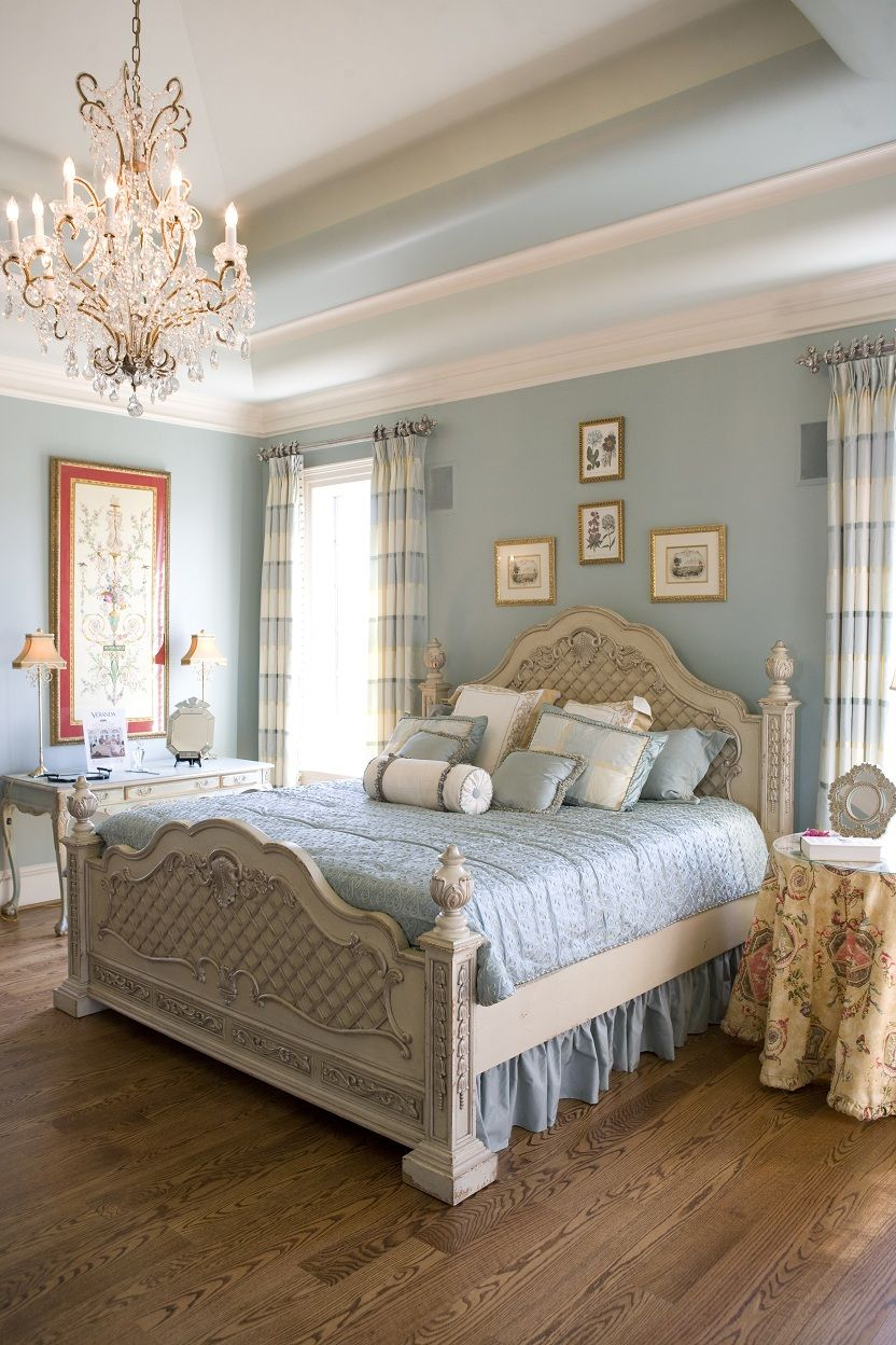 Pretty Bedroom Inspired By Blue Beautiful Cream And Blue Master Bedroom