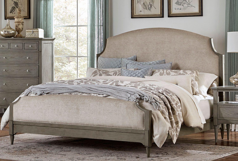 Albright Upholstered Bed Barnwood Grey Queen