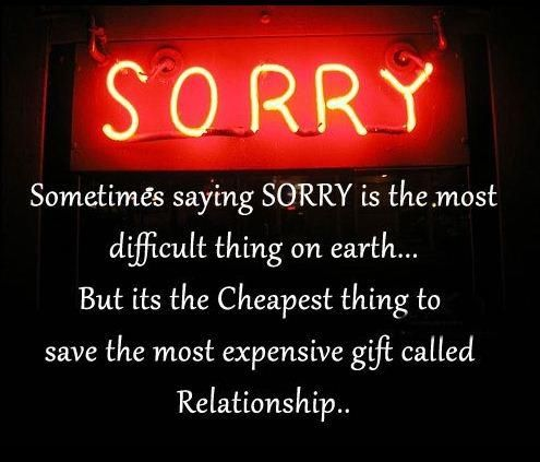 Saying Sorry Short Inspirational Quotes Apologizing Quotes Saying Sorry