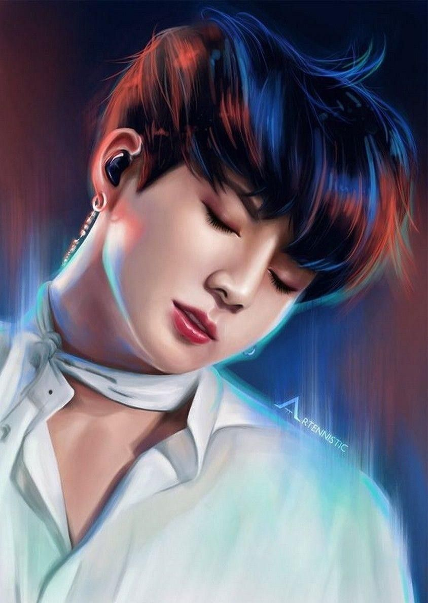 Jeonjungkook Wallpaper Anime Wallpaper Fan Art In 2020 Jungkook Fanart Fan Art Drawing Fan Art