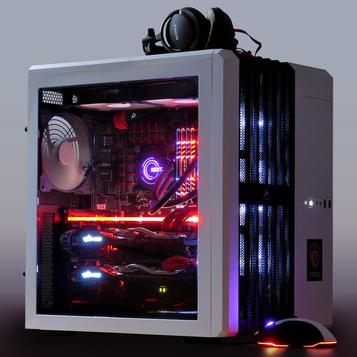 Markill-UK's Completed Build - Intel Core i7-4790K. MSI GeForce GTX 970 (2-Way SLI). Corsair Air 540 | Custom pc. Gaming room setup. Gaming pcs