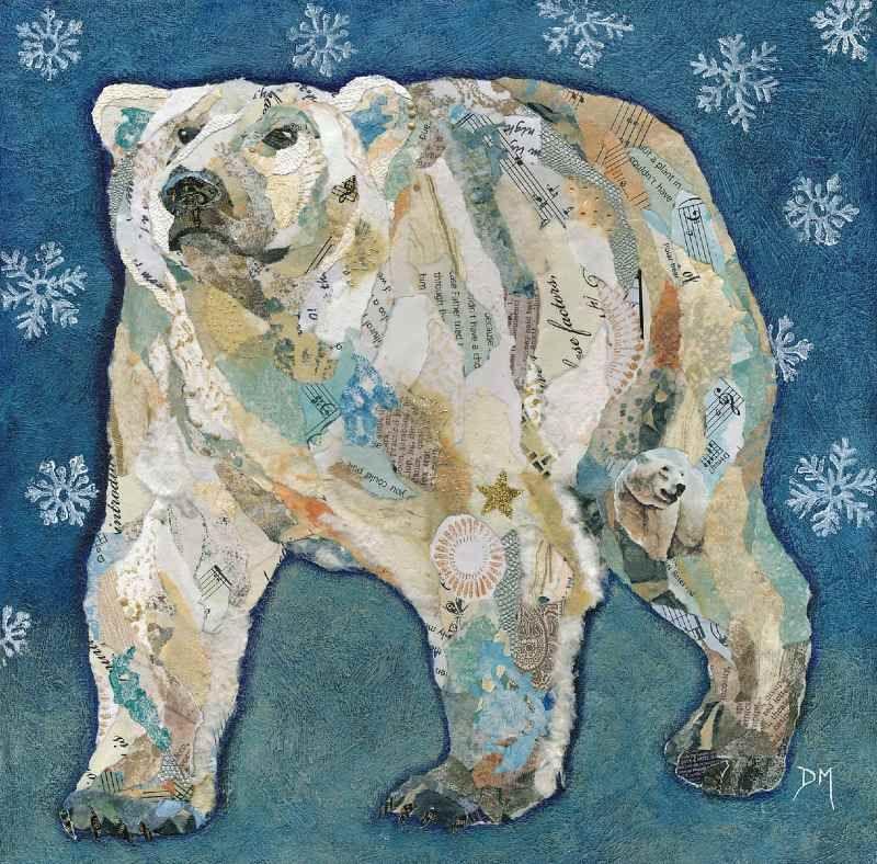 Dawn Maciocia   COLLAGE   Polar Bear Blues   Mixed Media Art ...