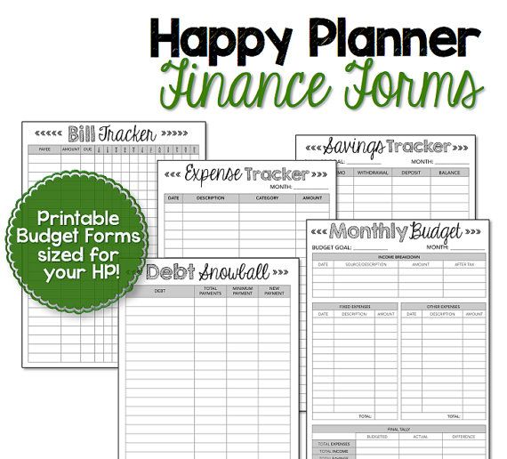 Budget \ Finance Bundle {Black \ White} You already use your Happy - free printable budget planner