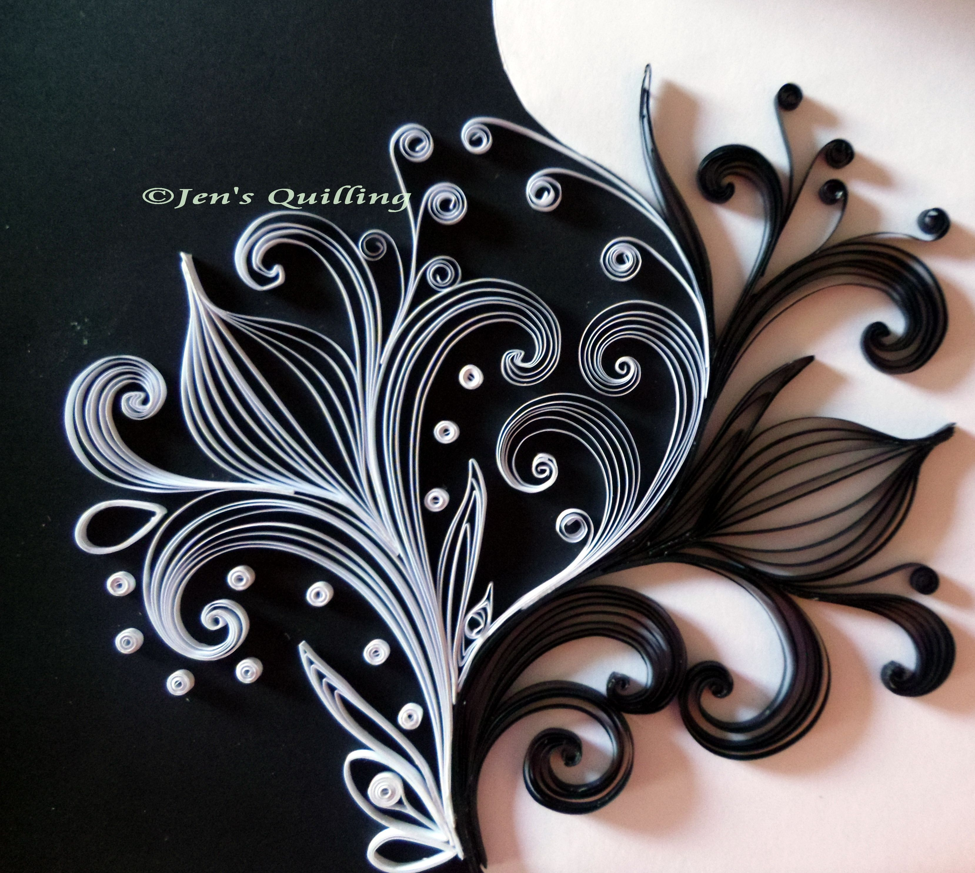 Black White Quilling Quilling Patterns Designs Quilling