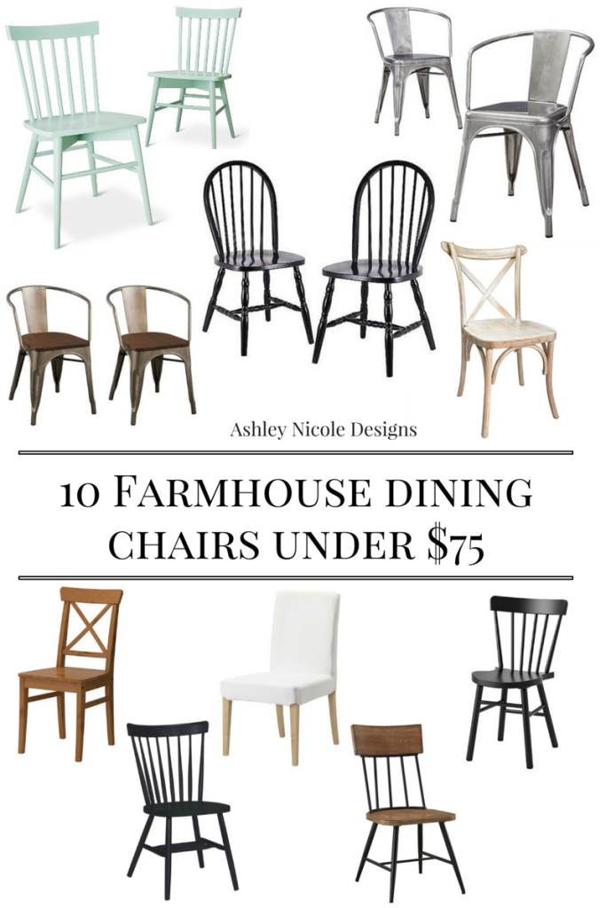 10 Farmhouse Dining Chairs Under 75 Farmhouse Dining