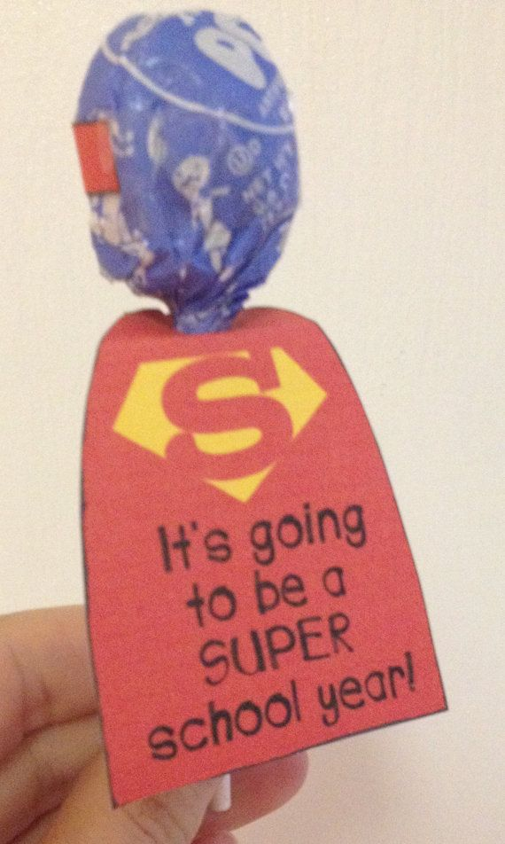 Superhero Lollipop Printable Template- Back to school student gift