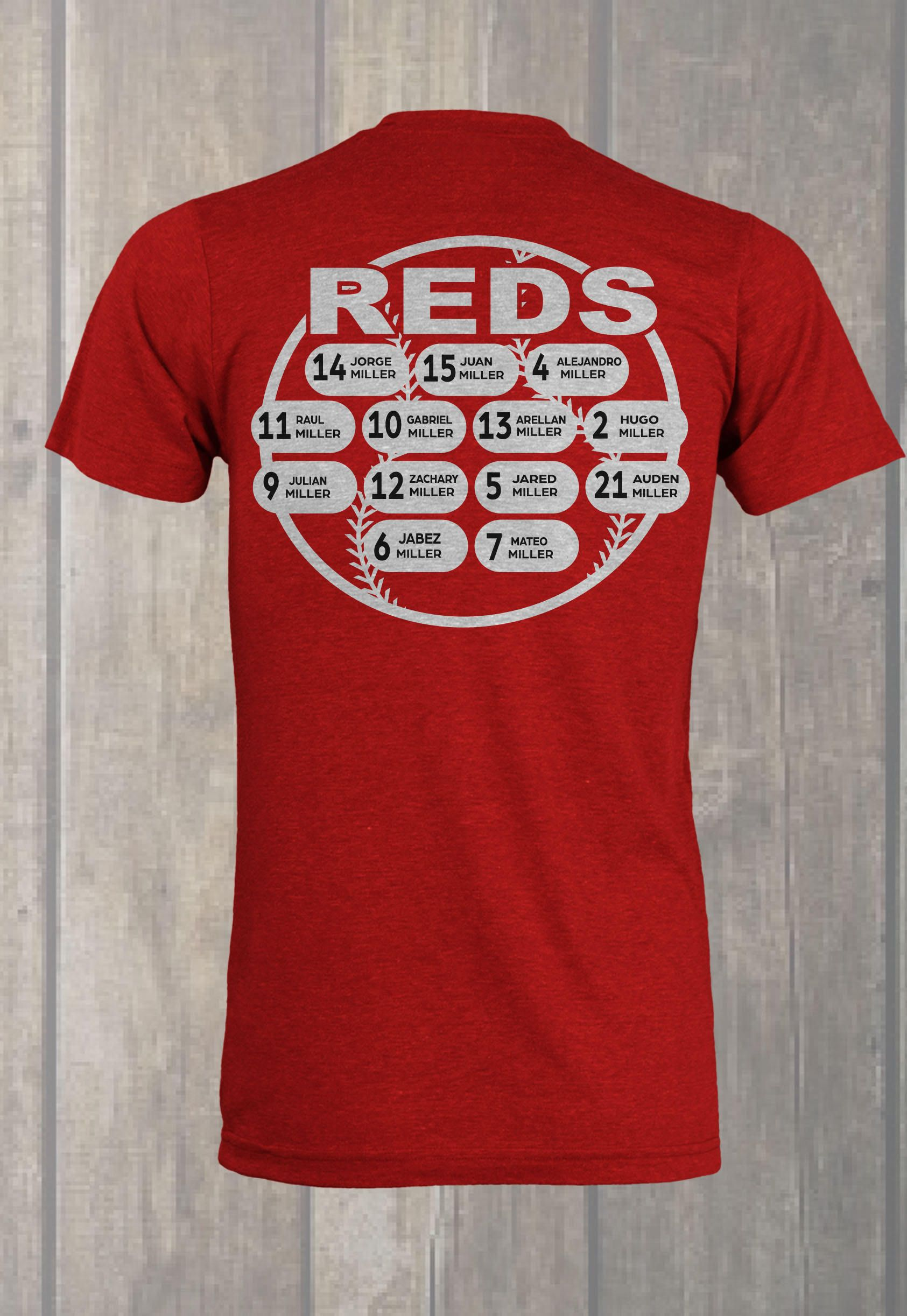 custom baseball roster t shirt design - Baseball Shirt Design Ideas