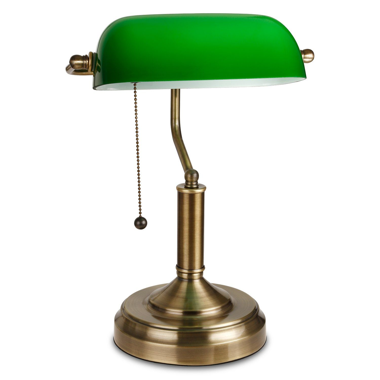 Emerald green table lamp - Torchstar Traditional Banker S Lamp Antique Style Emerald Green Glass Desk Light Fixture Satin Brass