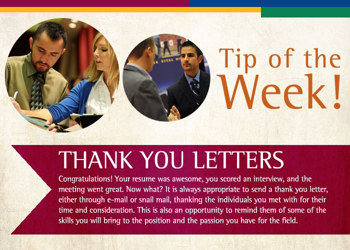 thank you letters are always appreciated   tow
