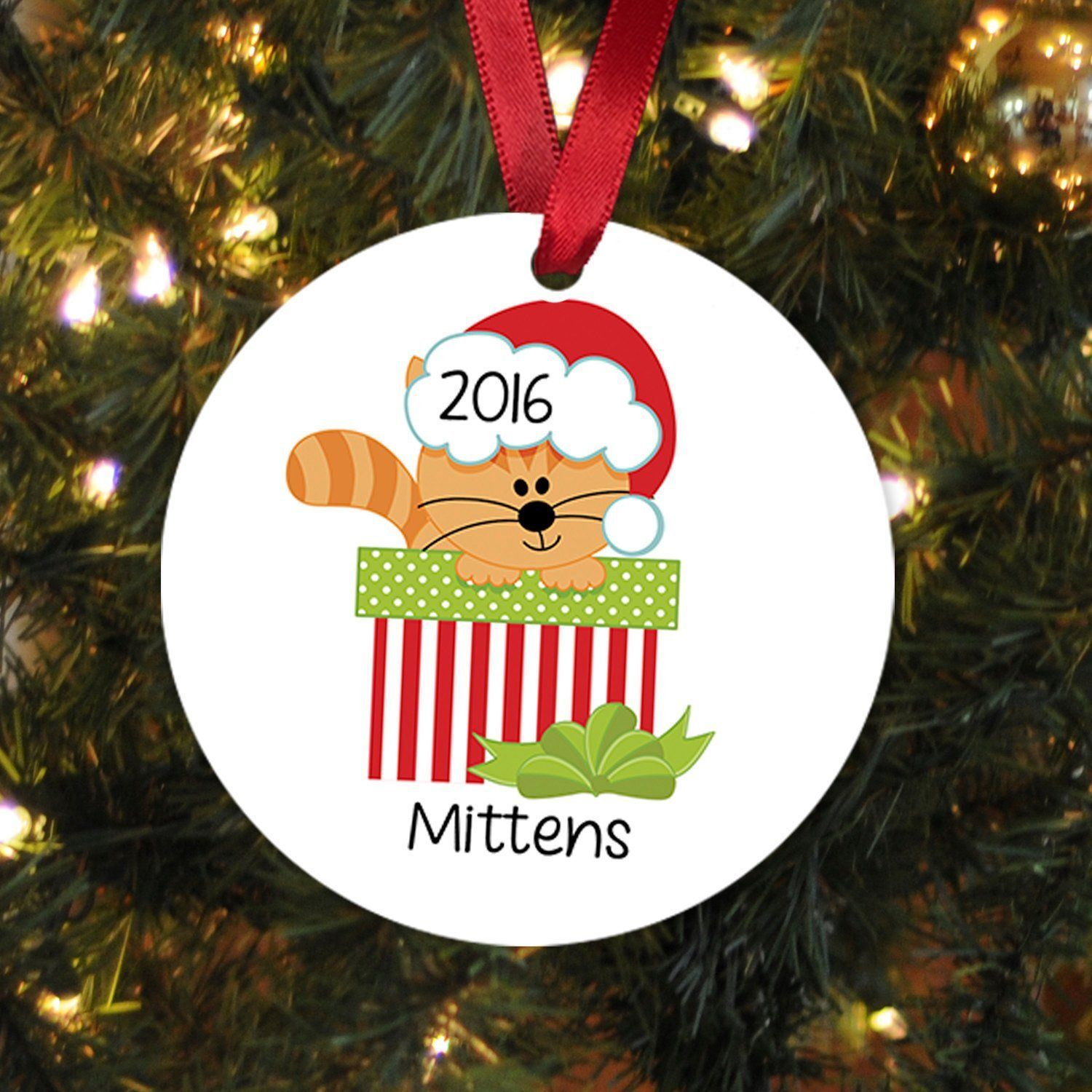 cat christmas ornaments personalized