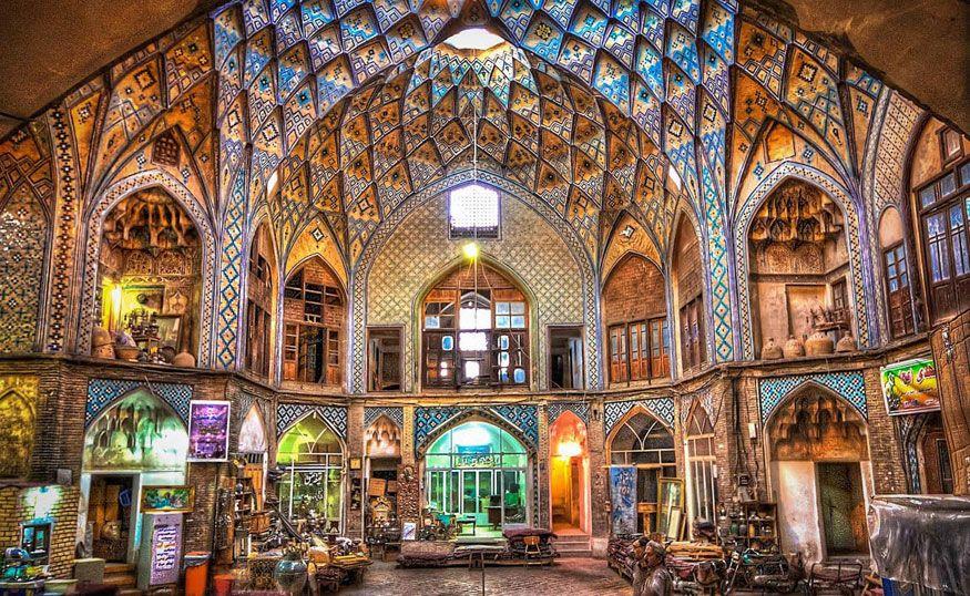 The Bazaar of Kashan in Iran