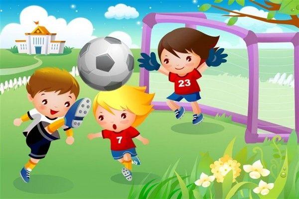 Ni os jugando al futbol lugares de juegos pinterest - Dibujos infantiles de ninos jugando ...