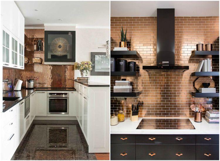 Neue Küchenideen Fliesen Mosaik Kupfer-Optik Wohnideen Küche - fliesen mosaik küche